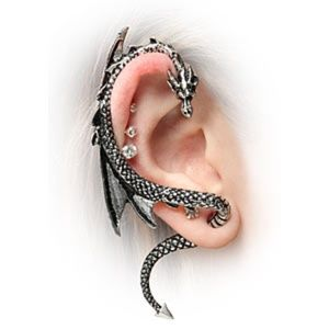 Gothic Punk Dragon Ear Cuff Dragon Wrap Earring